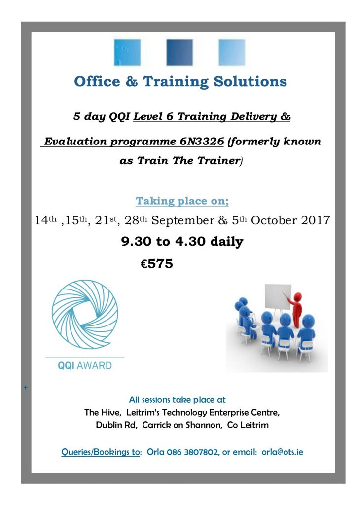 qqi level 6 training delivery and evaluation formerly train the
